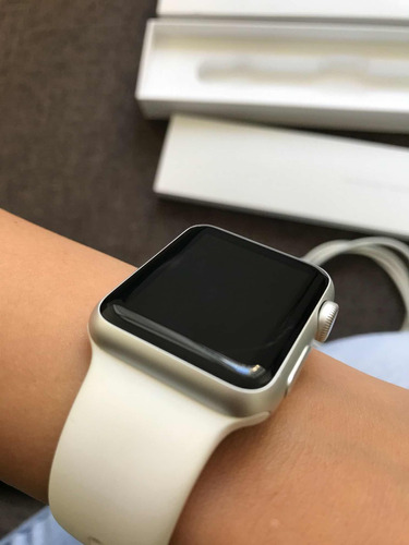 apple watch s1 38mm white silver aluminum