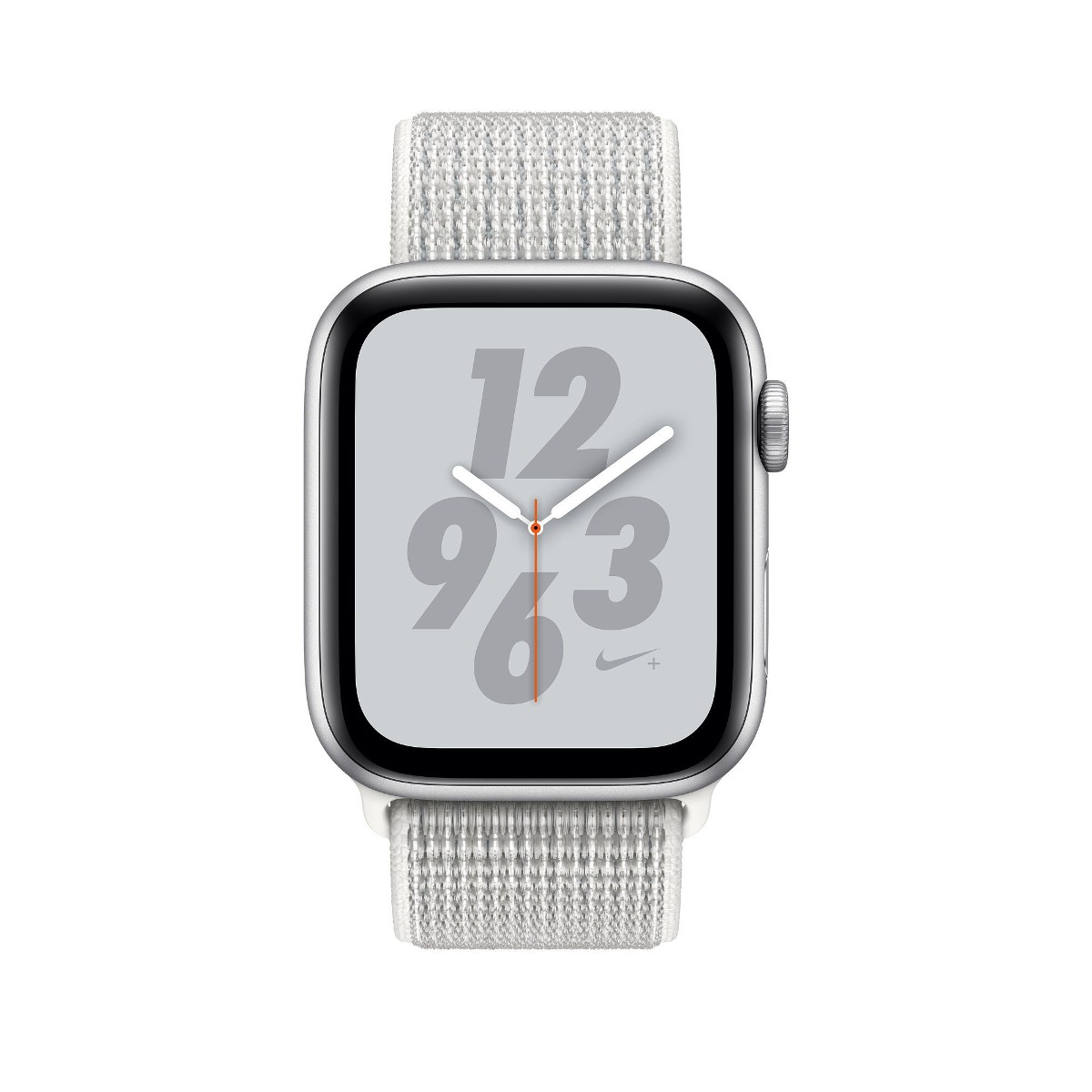 587034a2c3d apple watch s4 nike 44mm gps prata pulseira nike loop branca. Carregando  zoom.