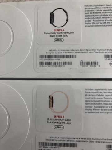 b4ae86a8540 Apple Watch S4 Series 4 44mm Gps Lançamento- Lacrado - R  2.364