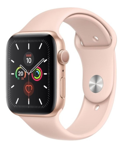 apple watch s5 (gps) cx. alumínio gold 40mm pulseira esporti