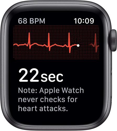 apple watch serie 5 44mm gps/caixa de alumínio preto