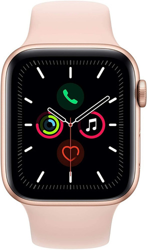 apple watch serie 5 44mm gps/caixa de alumínio rose com puls