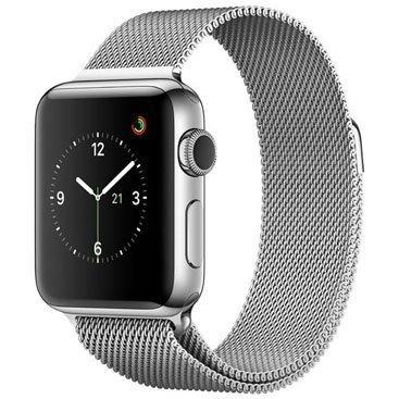 apple watch series 2, 38 mm, aço inox, mnp62bz/a