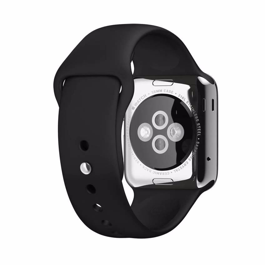 de846987627 apple watch series 2 42mm gps sport band black white gold. Carregando zoom.