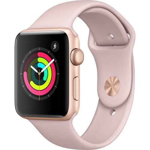 5b93778c21a Apple Watch Series 3 42mm Dourado Pulseira Sport Areia Rosa - R ...
