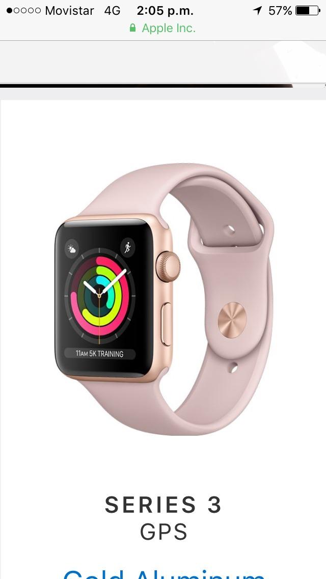 d69f4ccd3e7 Apple Watch Series 3 Con Gps 42mm -   1.349.000 en Mercado Libre