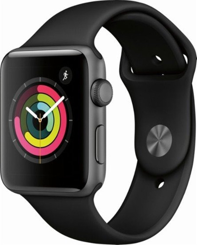 apple watch series 3 (gps), 38mm space gray aluminum case