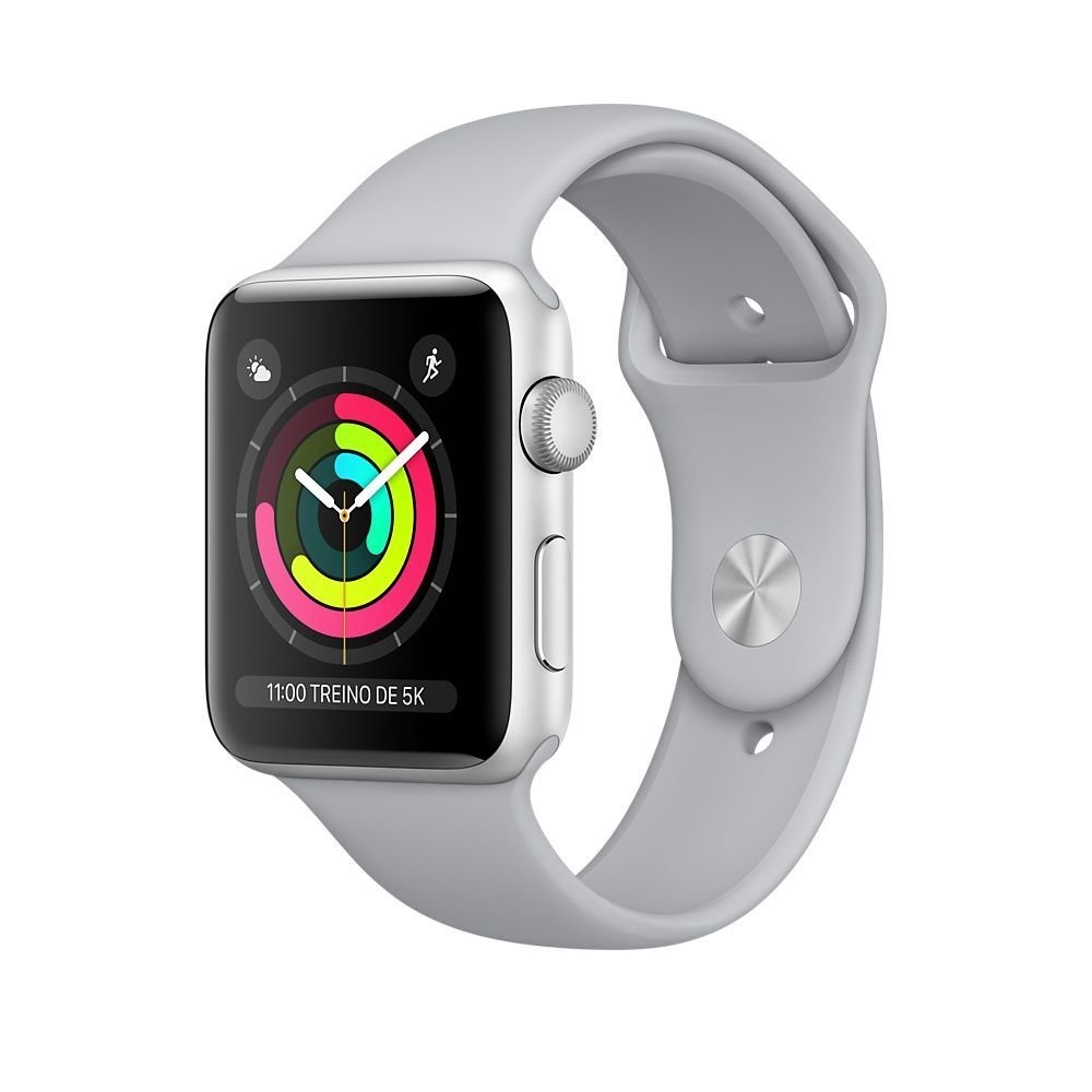 170c6115f9f Apple Watch Series 3 Sport 38mm Prata Gps Wi-fi Novo Lacrado - R ...