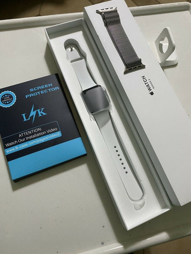 apple watch series 4- 44mm alluminio silver white sport