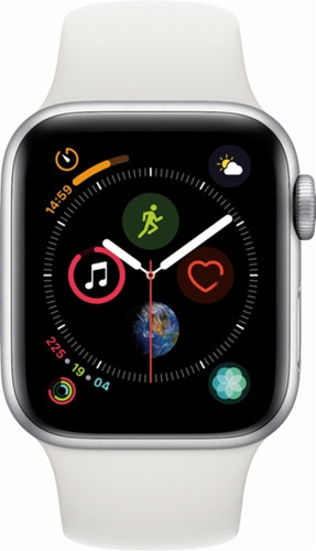 apple watch series 4 (44mm, gps white silver sport band)