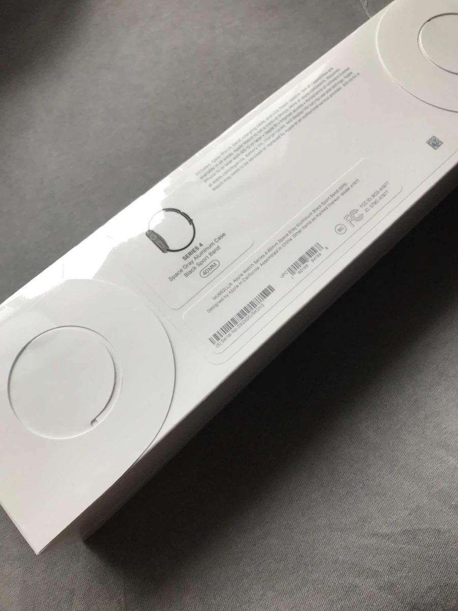 7f16a9731b5 apple watch séries 4 gps 40mm alumínio cinza espacial preto. Carregando  zoom.