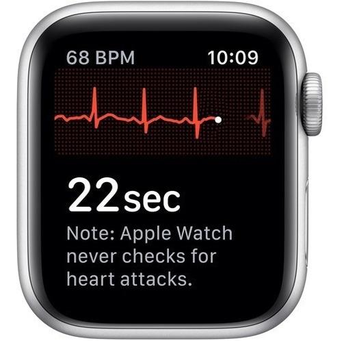apple watch series 5 40mm gps silver, platinum/black nike