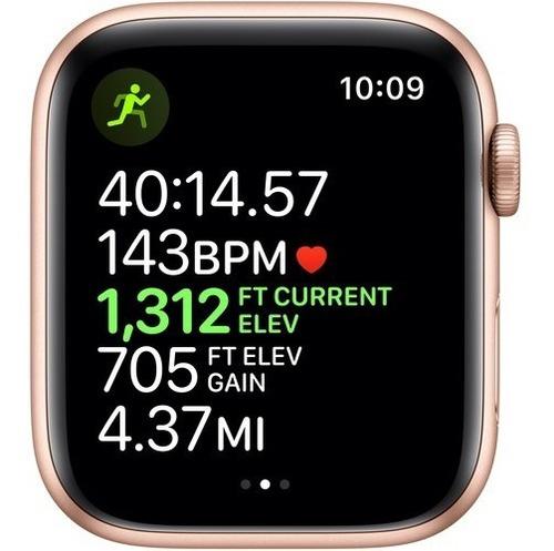 apple watch series 5 44mm gps gold aluminum, pink sand sport