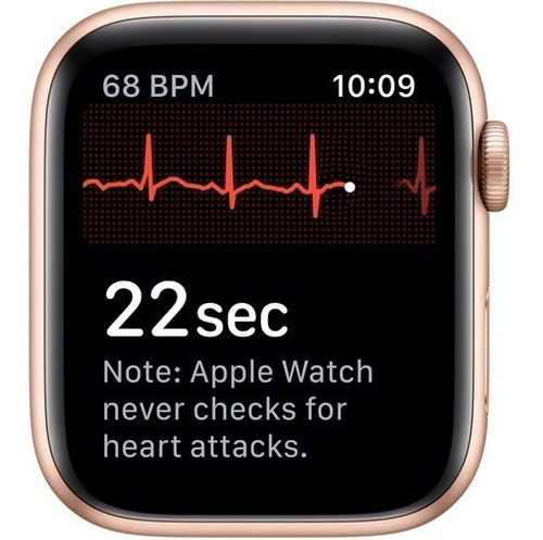 apple watch series 5 44mm gps gold, pink sand 12x s/juros