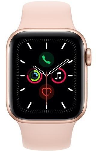 apple watch series 5 gps 40mm gold aluminum, pink sand sport