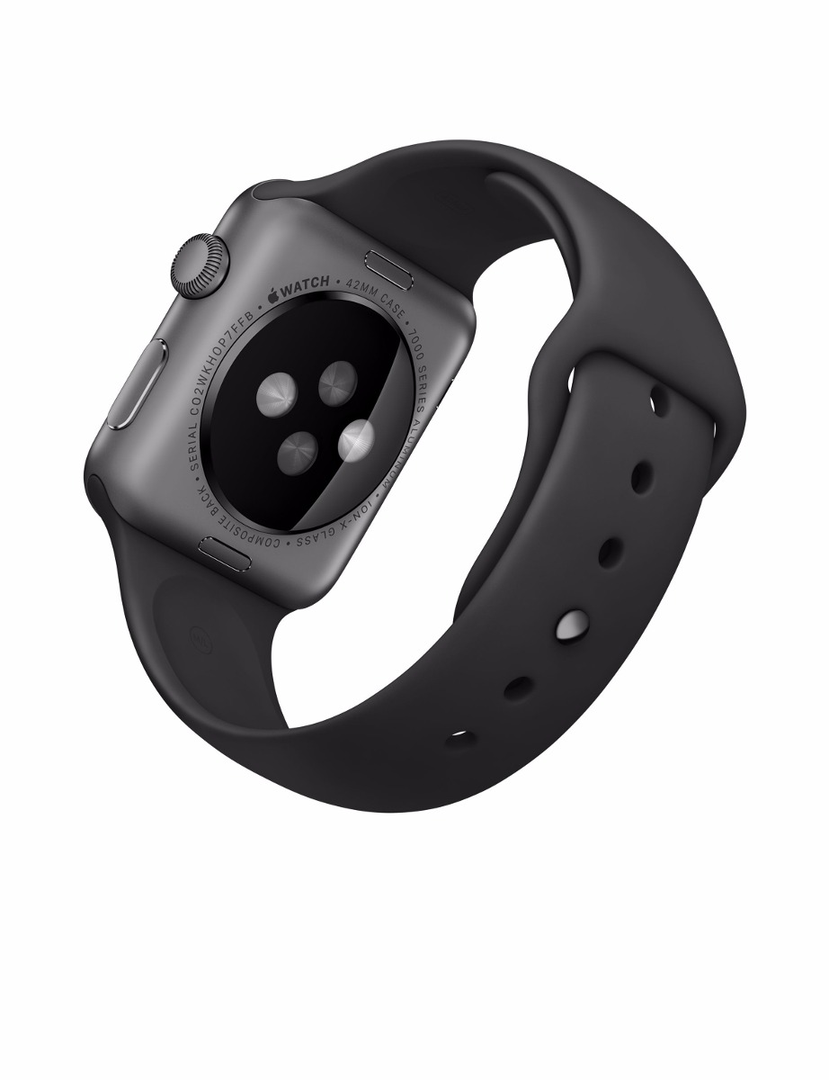 223261d6c98 apple watch sport 42mm series 2 space gray pulseira preta. Carregando zoom.