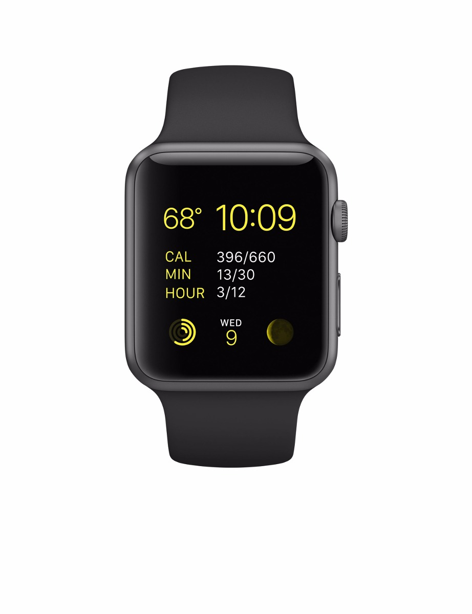 7bb4cb7691b Apple Watch Sport 42mm Series 2 Space Gray Pulseira Preta - R  2.390 ...