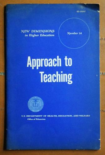 approach to teaching / ed. departamento de educación ee.uu.