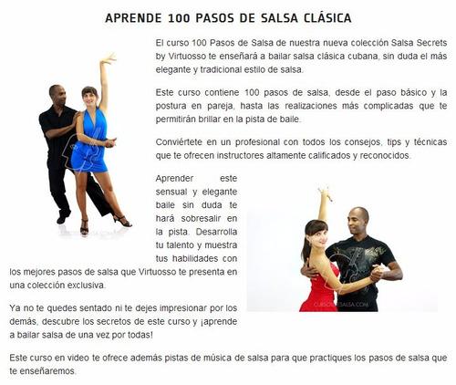 aprenda 100 pasos de salsa clásica baile como un profesional
