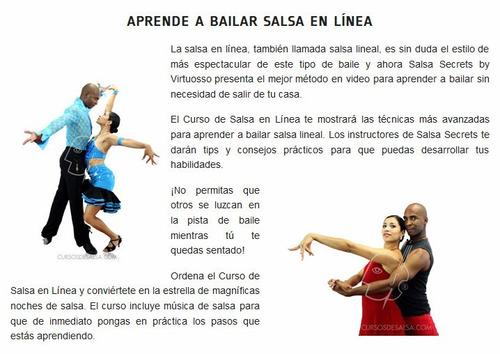 aprenda a bailar salsa en línea como un profesional