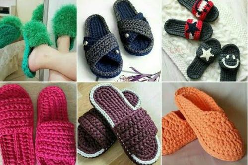 aprenda a fazer lindas sandálias e pantufas de crochê