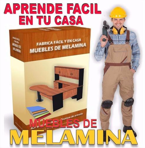 aprenda carpintería con melamina+ soft+videos+bonos
