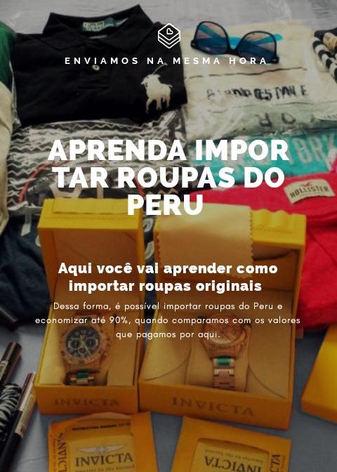 707981425a8 Aprenda Importar Roupa Do Peru Eua Paraguai China Barato - R  29 ...