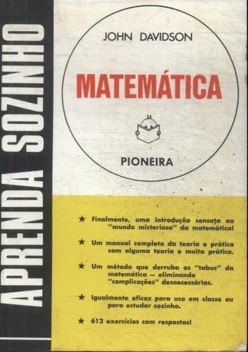 aprenda sozinho matematica (livro raro em ótimo estado)