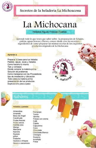 aprende a preparar helados conos raspados granizados chupis