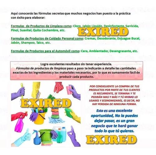 aprende elaborar formulas químicas productos de limpieza!