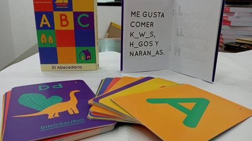 aprende: naipes didácticos y libro de actividades abecedario