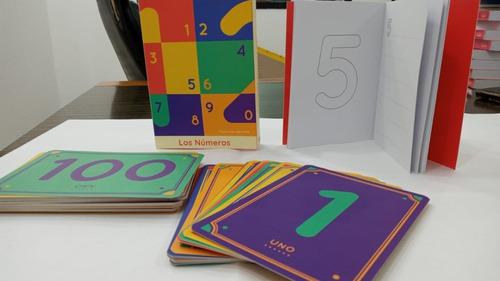 aprende: naipes didácticos y libro de actividades números