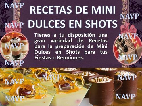 aprende recetas mini dulces shots fiesta cumpleaños decorar