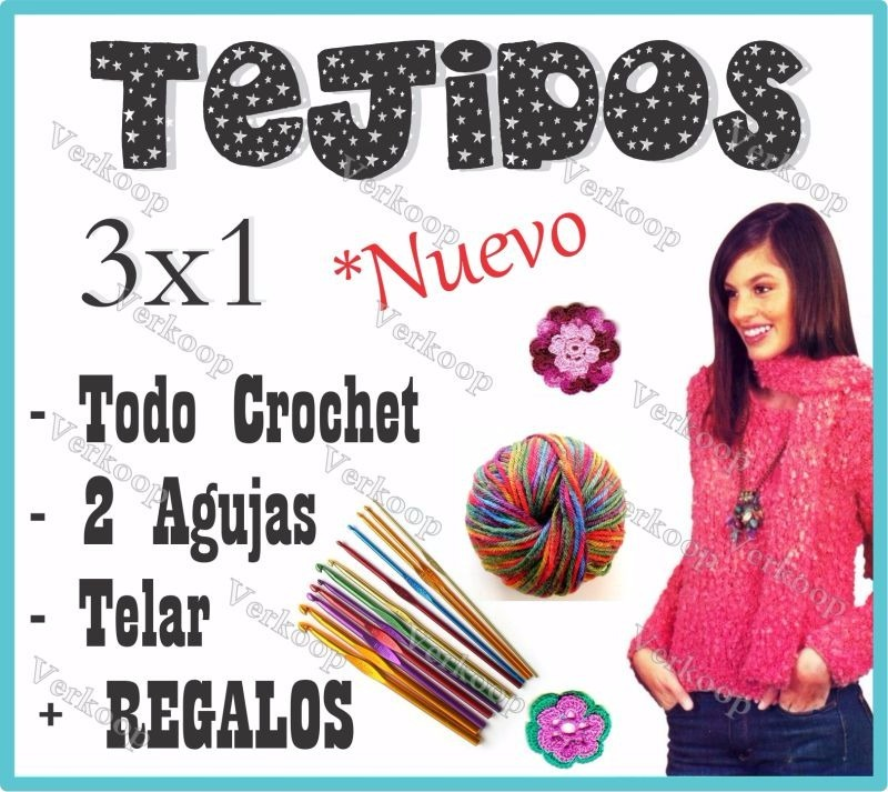 Aprende Todo Tejidos Dos Agujas Crochet Telar Patrones Facil - $ 437 ...