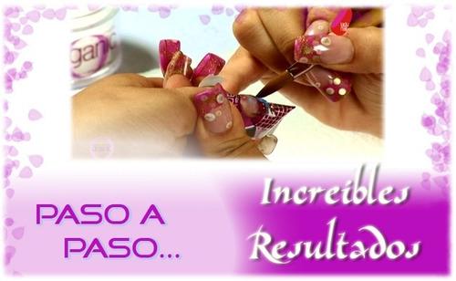 aprende uñas acrilicas gel resina esmalte manicur decoracion