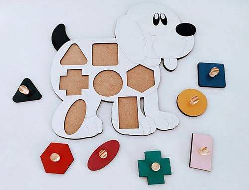 aprendendo as formas geométricas cachorro - 8 peças