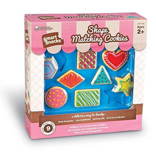 aprender recursos shape matching cookies 9 piezas