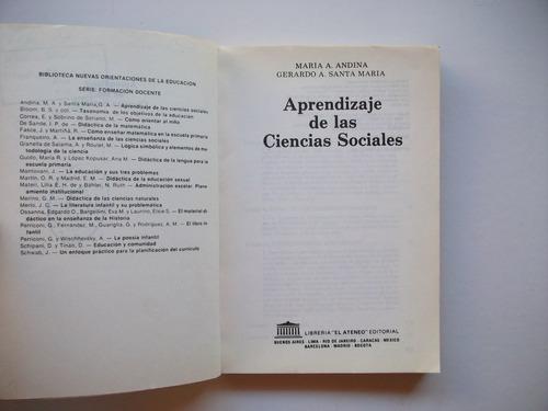aprendizaje de las ciencias sociales - andina / santa maría