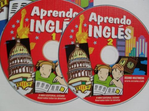 aprendo ingles - 2 volumenes  + 2 cd-audio  ---oceano---