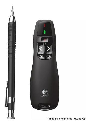 apresentador slides logitech r400 sem fio com laser point