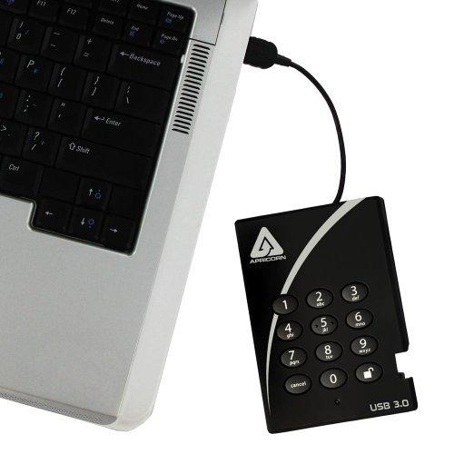 apricorn aegis padlock 128 gb usb 3.0 ssd de 256 bits cifrad