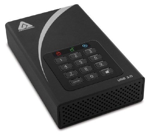 apricorn aegis padlock 3 tb dt 256 bits encriptación usb 3