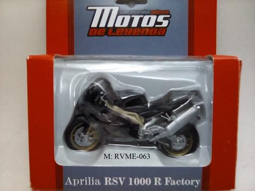 aprilia  rsv 1000 r factory a escala 1/18 1 pieza