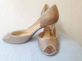 Doradas Sandalias Bajitas Bellas Mujer En Zapatos BWCxdoer