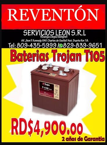 aprovecha gran esecial de baterias trace, trojan, paneles