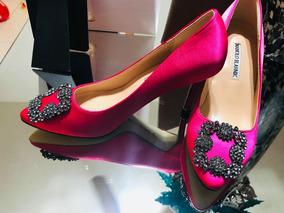 ab289db8 Zapatos Manolo Blahnik Originales. Usado · Aprovecha Hermosa Zapatilla  Manolo B. Color Rosa