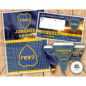 Aprovechá! Kit Imprimible Personaliza. Boca Juniors ¡regalo!