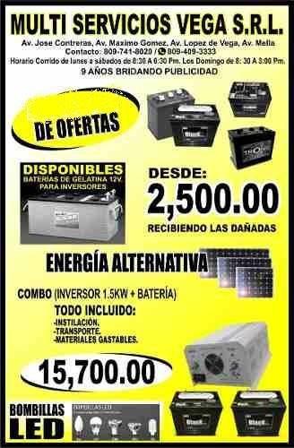 aprovecha nuestras ofertas de inversores y baterias nuevas