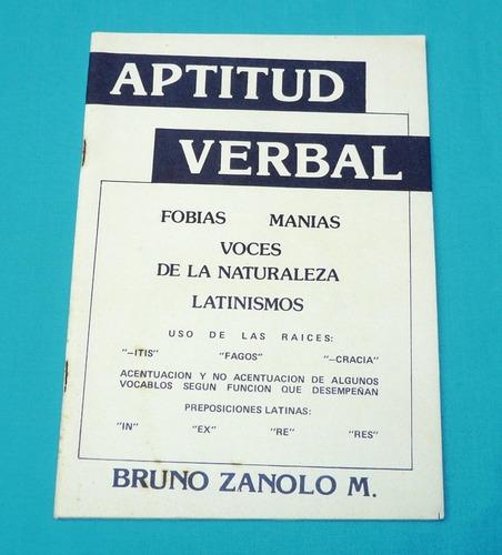 aptitud verbal bruno zanolo latinismos locuciones fobias