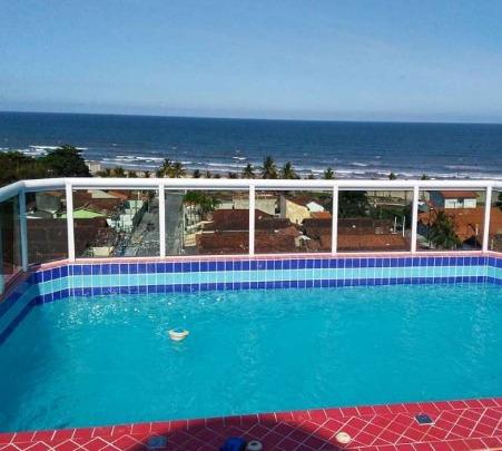 apto 01 dormitório, com piscina e vista para o mar (975)